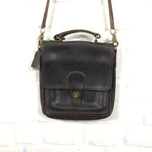 Vintage Coach Dark Brown Leather Crossbody Purse